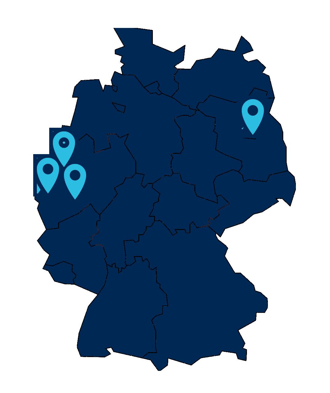 Karte Bäumer Deutschland