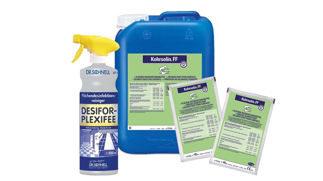 Desinfektion und Händehygiene_Flächendesinfektion