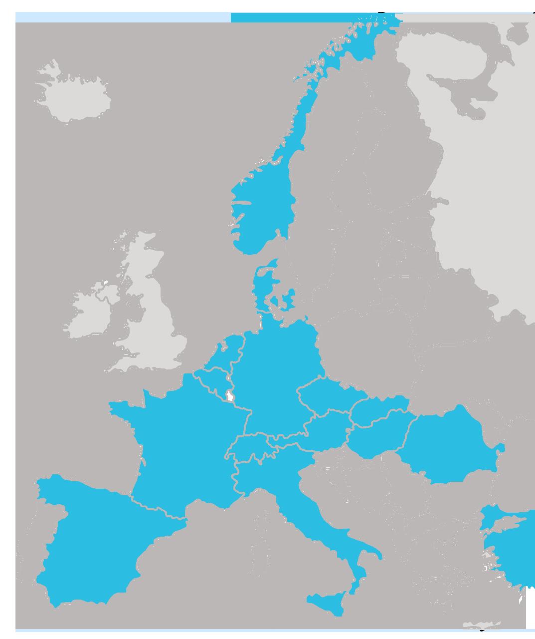 Karte Bunzl Continental Europe 2