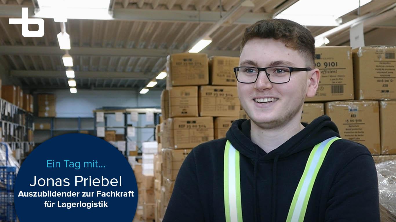 Thumbnail Jonas Priebel, Auszubildender zur Fachkraft für Lagerlogistik